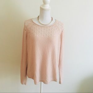 Elle size large open knit sweater